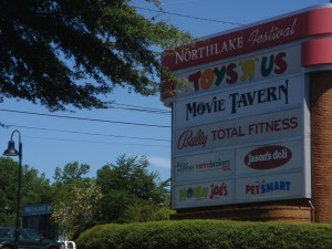 Northlake Festival sign